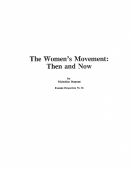 The Women's Movement: Then and Now - FP5b