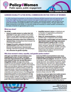 Gender Equality & The Royal Commission on the Status of Women
