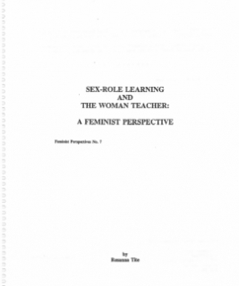 Sex-Role Learning and The Woman Teacher - FP7