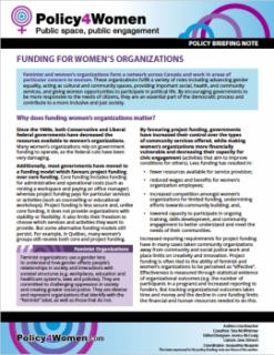 Funding for Women's Organizations
