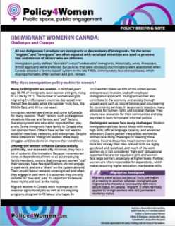 (Im)migrant Women in Canada