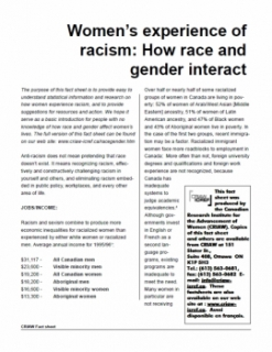 Women's experience of racism: How race and gender interact