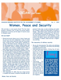 Women, Peace and Security