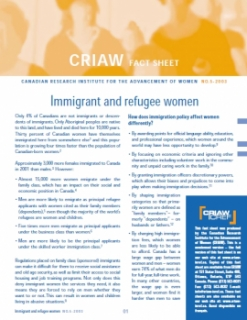 Immigrant and Refugee Women