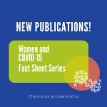 New Fact Sheet Series! Women and COVID-19
