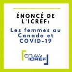 ÉNONCÉ: Les femmes au Canada et COVID-19