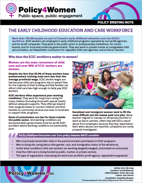 The Early Childhood Education and Care Workforce policy briefing note