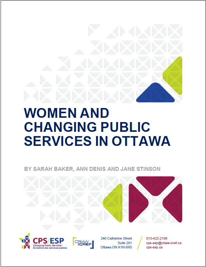 Women and Changing Public Services in Ottawa